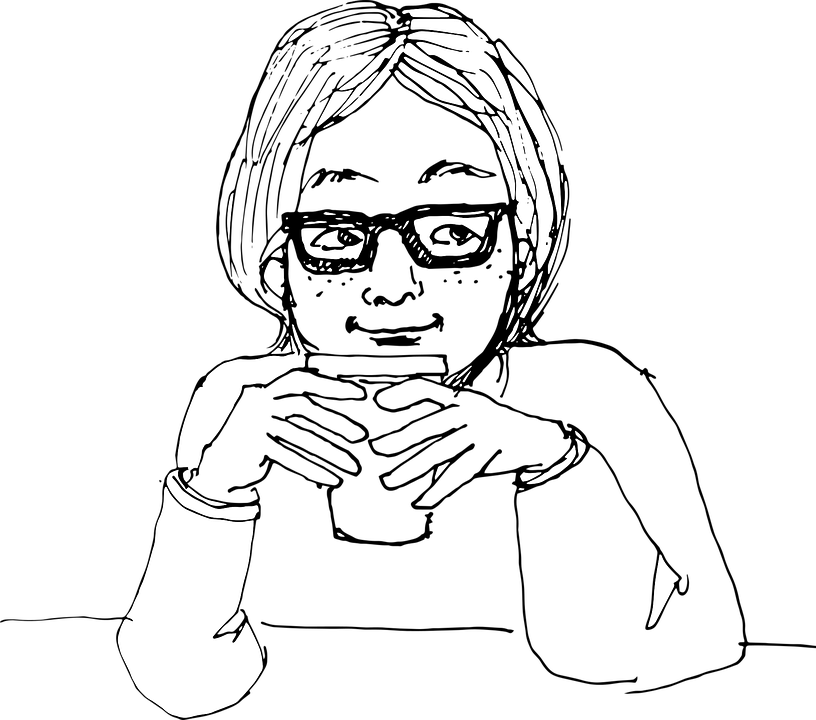 El Boyama Kadın Içme Pixabayda ücretsiz Vektör Grafik