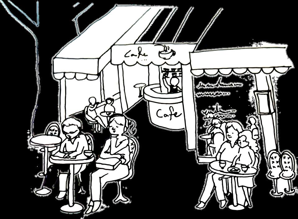 El Boyama Cafe Açık Kafe Bir Pixabayda ücretsiz Vektör Grafik