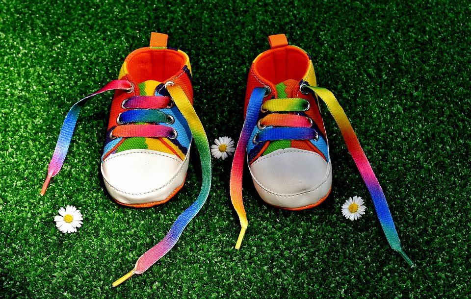 Warna Pelangi, Sepatu, Sepatu Bayi, Warna Warni, Warna
