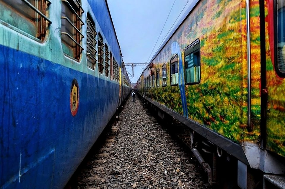 Two trains passing Image by KARTICK DUTTA from Pixabay