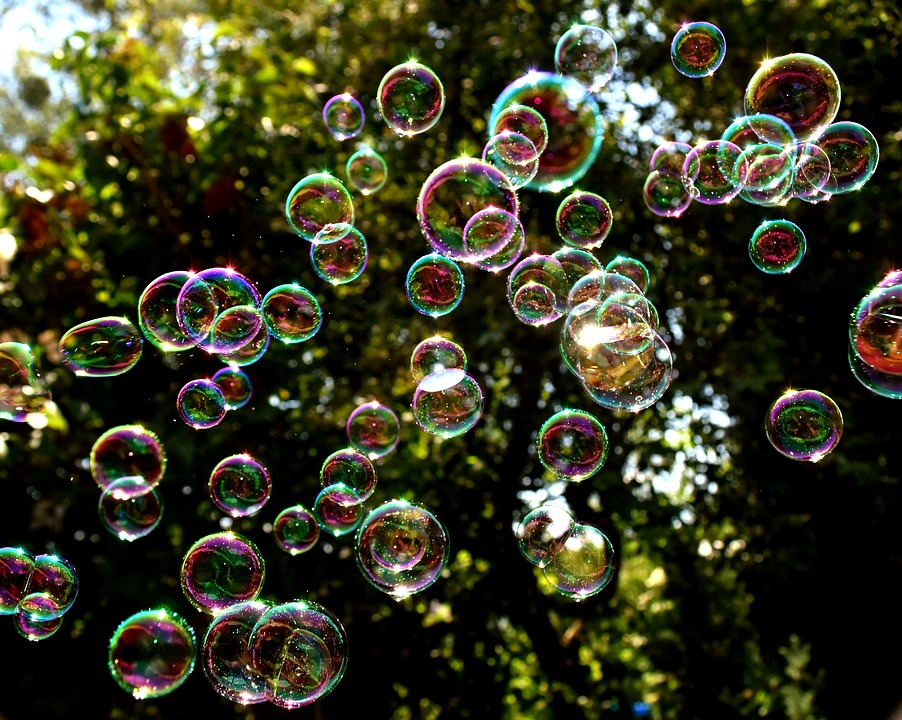 soap bubbles colorful fly make · free photo on pixabay