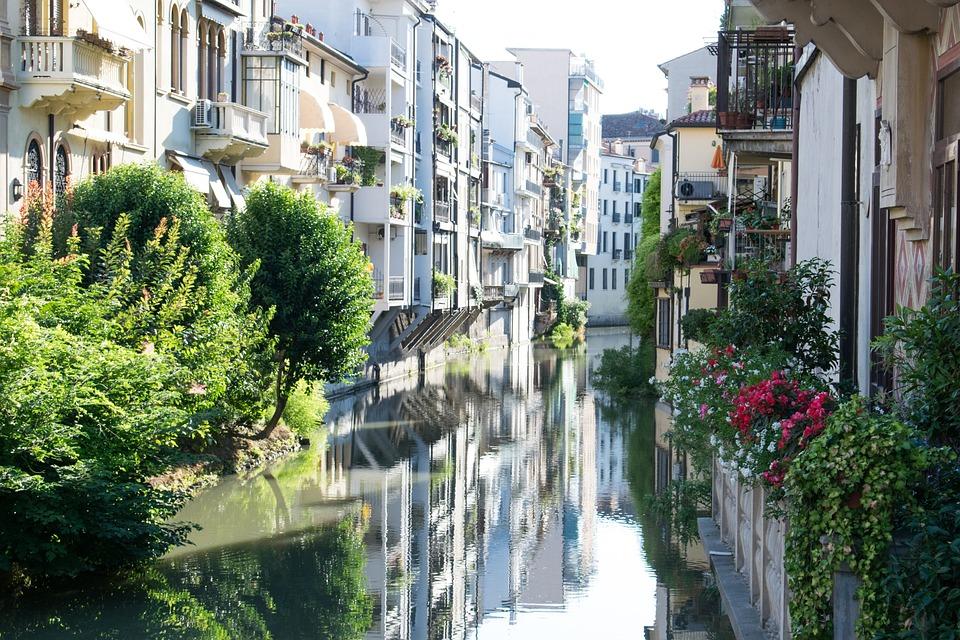 Włochy, Padwa, Europa, Europie, Architektura, Budynków