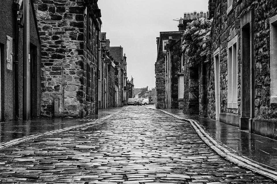 Road, Rain, Wet, Scotland, Mirroring, Away, Raining