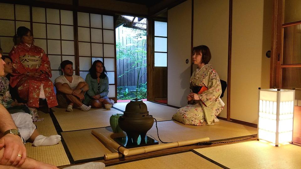 日本, 茶, 伝統的な, 式, 文化, オリエンタル, テーブル, 茶茶