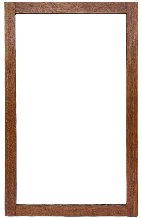 mirror frame frame mirror isolated wooden frame - Mirror Frame