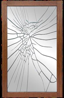 Mirror Frame, Mirror, Broken