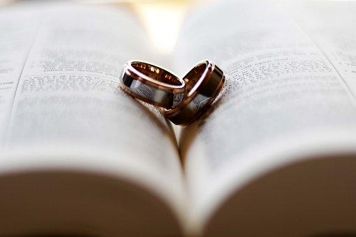 リング, 結婚式, 愛, 聖書, 水, 一緒に, 1 つ, 結婚指輪, 結婚