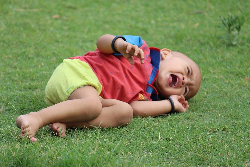 泣いている赤ちゃん, 子, 新生児, 少年