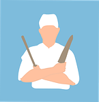 chef, front, benefited