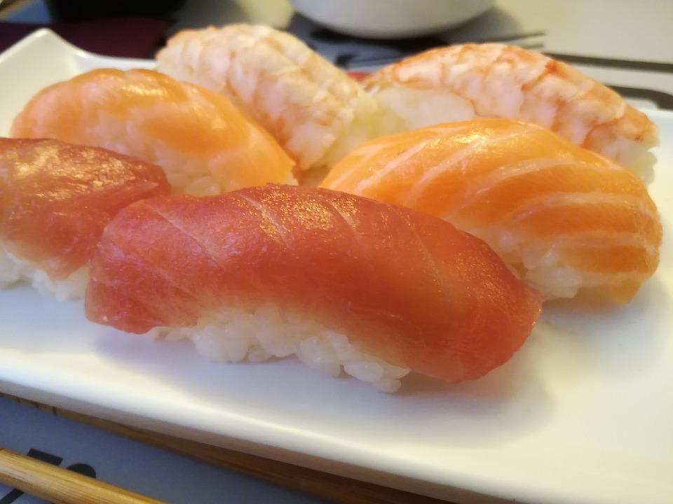 Nigiri, Sushi, Salmone, Tonno, Gambero, Cucina, Riso