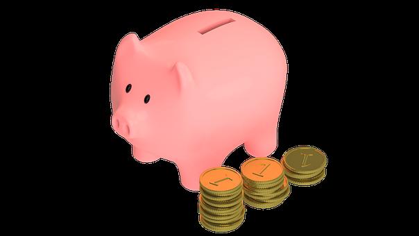豚, 動物, 吻, マネー, コイン, 貯金箱, 保存, ハー, ツール, 財源