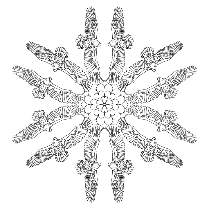 Mandala Adler Jagd · Kostenloses Bild auf Pixabay