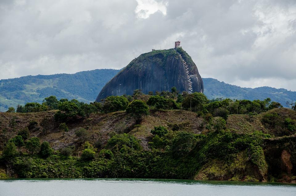 Colombia, Guatape, Lago, Reservorio, Islas, Turismo