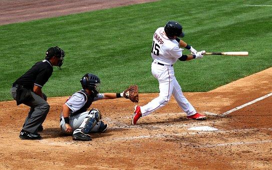 野球, スイング, キャッチャー, 打者, ボール, プレーヤー, チーム