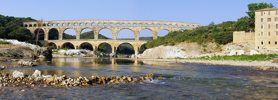 Pont Du Gard, Bridge, France, Roman