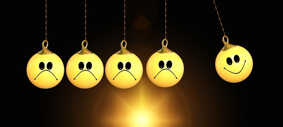 Felicidad, Positivo, Emociones, Bola, Cambio, La Cara