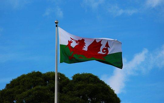 Welsh Flag, Pennant, Welsh, Wales, Flag