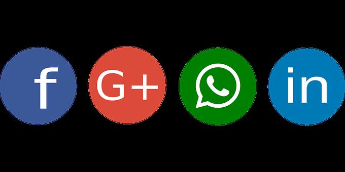 Social, Facebook, Google Plus, Whatsapp