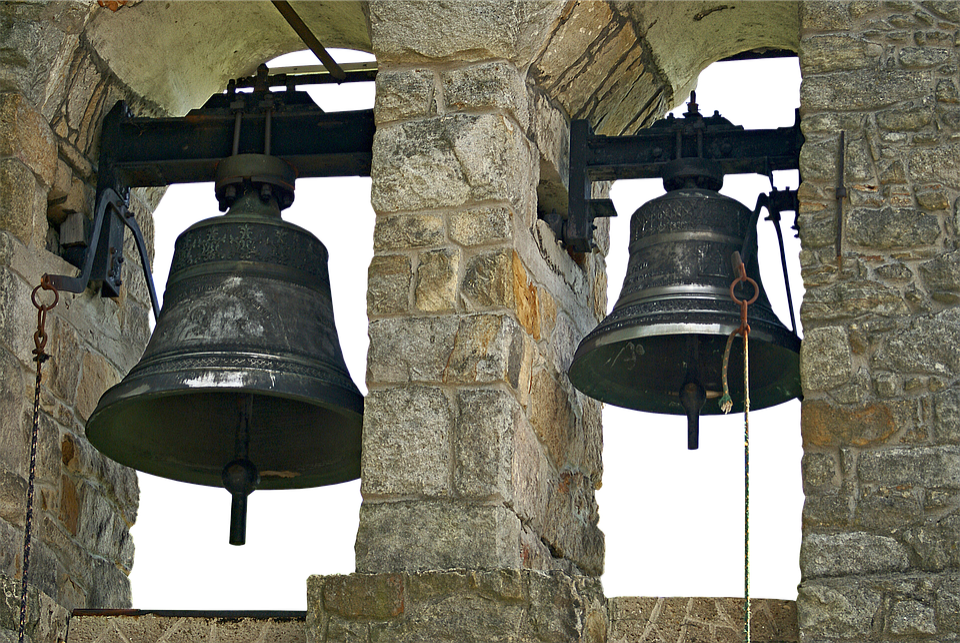 Bells, Bell, Bell Tower, Masonry, Metal, Ring