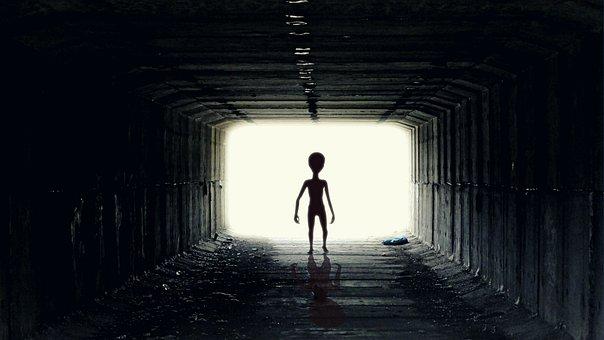 Ufo, Alien, Guy, Pozaziemianin, Ufoludek, spiritual loneliness