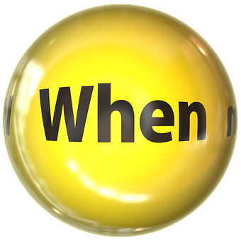 When written in black on a yellow sphere to signify when you get paid in affiliate marketing