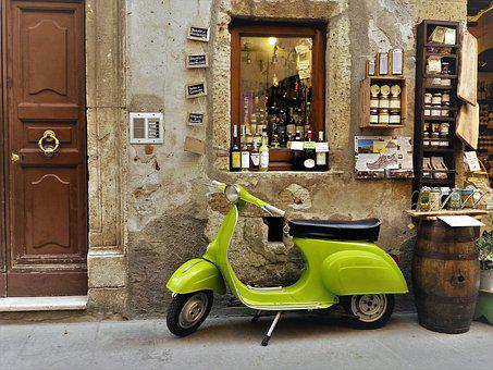 Toscana, Vespa, Roller, Motor Scooter