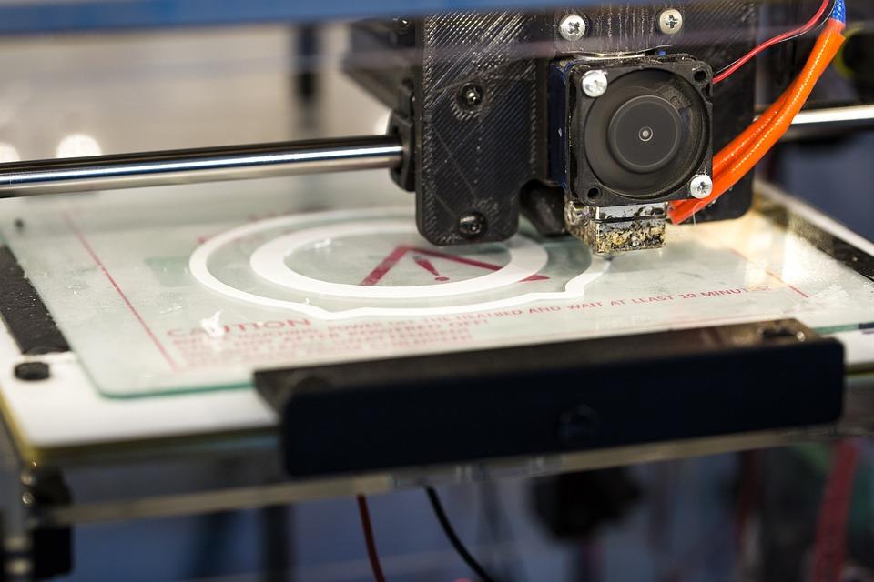 Принтер, 3D, Печать, 3D-Печать, Белый, 3D Модель