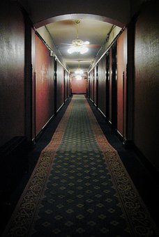 Hallway, Hotel, Spooky, Creepy, Haunted