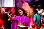 holi, dziewczyna, indyjski