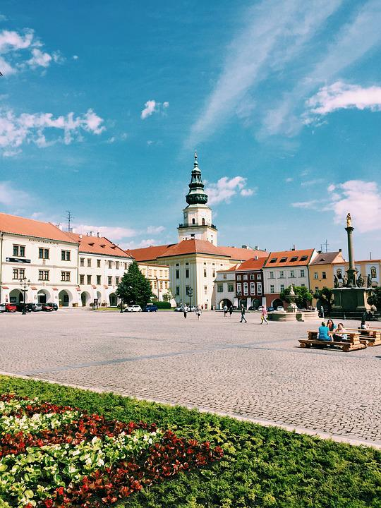 Kromeriz, Czech, Square, Church, Architecture, Moravia