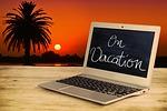 holiday, sunset, laptop