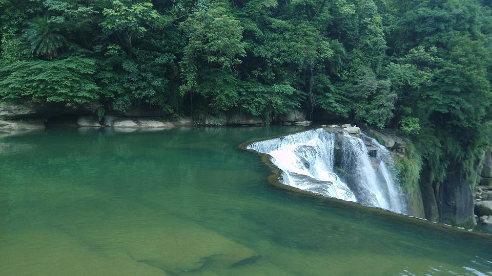 Falls Peyzaj Boyama Göl Pixabayde ücretsiz Fotoğraf