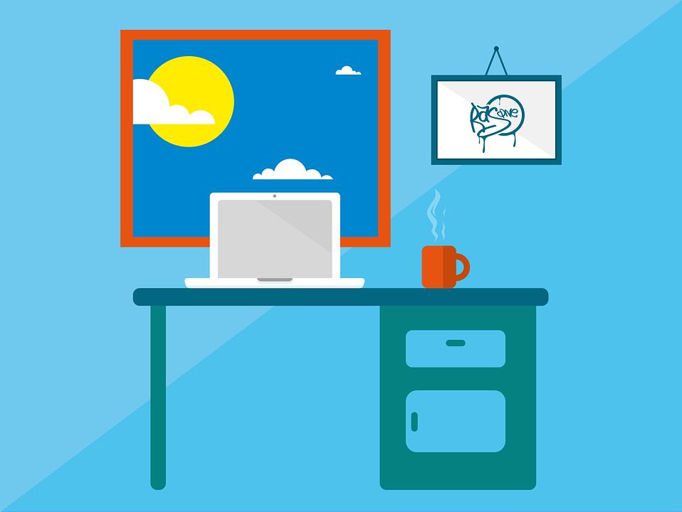 オフィス, 仕事, パソコン, 組織