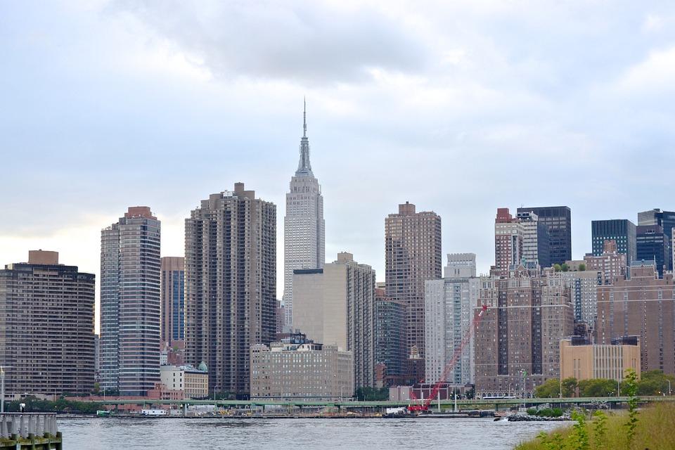 nueva york horizonte edificios ciudad de nueva york