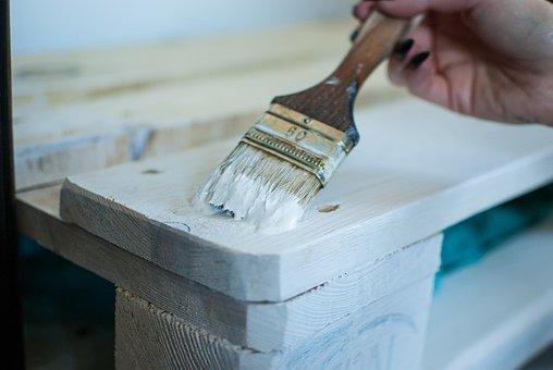 塗料, ブラシ, 絵画, 修理, パレット, へら, ローラー, 左官工事