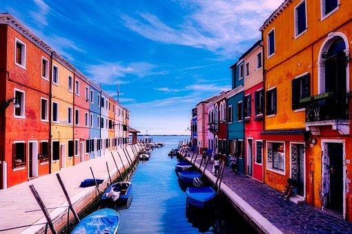 Burano Venecia Italia Vacaciones