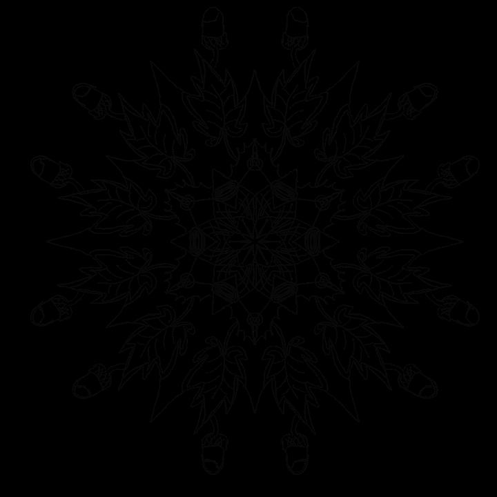 Kleurplaten Herfst Eikels.Mandala Herfst Eikels Decoratieve Gratis Afbeelding Op Pixabay