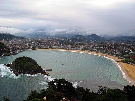Qué ver qué hacer en País Vasco, Panorámica de San Sebastián y Playa de La Concha