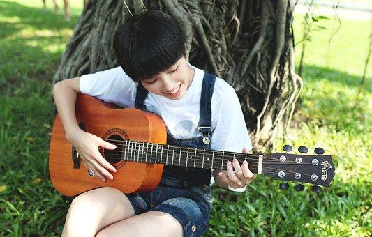 ギター, 稼動に伴, 音楽, 生活, 大学生, 学校, カンフェレンス, 草地
