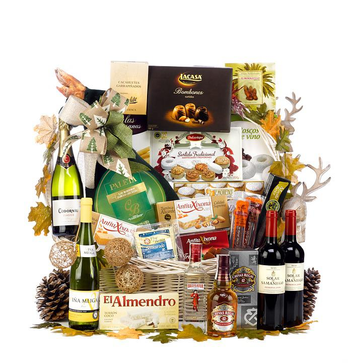 Christmas Hamper, Box Of Christmas, Lot Of Christmas