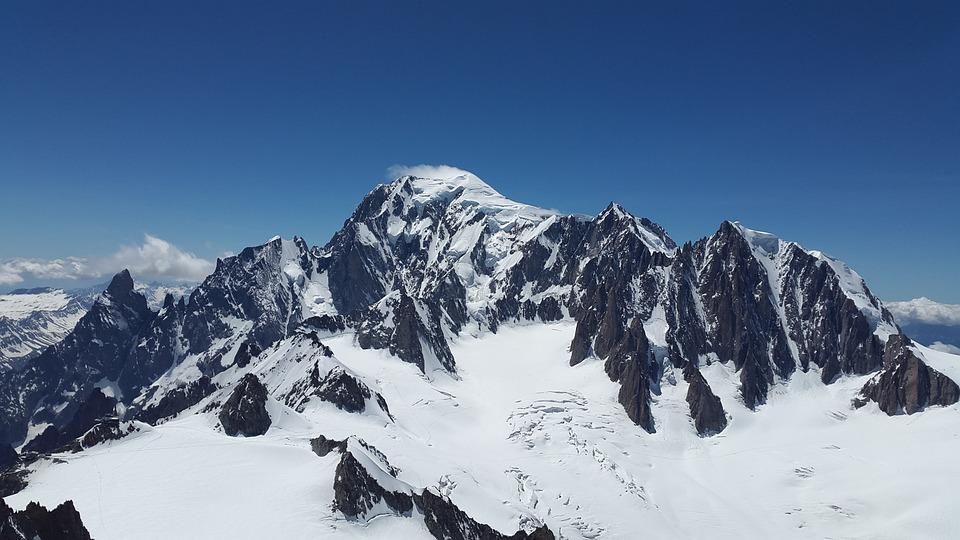 Mont Blanc, Mont Maudit, Glacier