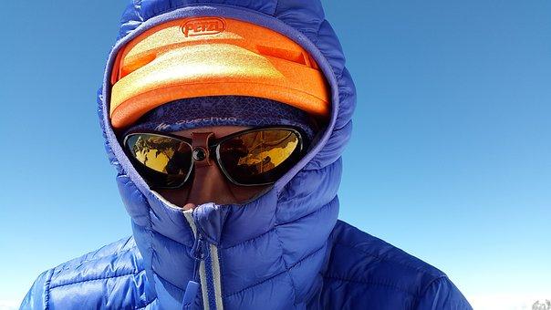 防寒, 衣料品, 登山家, 登攀, 冷, 風が強い, 機能服, 日焼け止め
