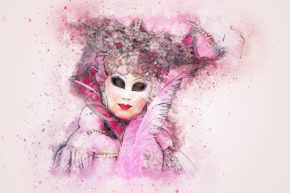 véritable éclatant professionnel Masque Carnaval Venise - Image gratuite sur Pixabay