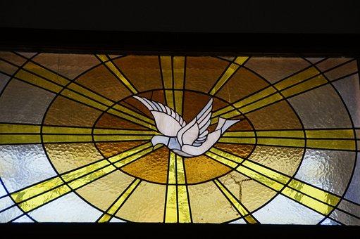 Holy Spirit, Dove, Window, Church Window