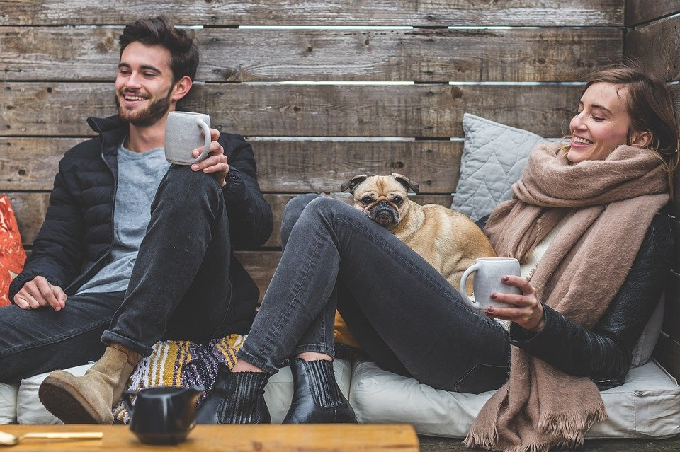 Men, Women, Apparel, Couple, People, Happy, Love, Pet