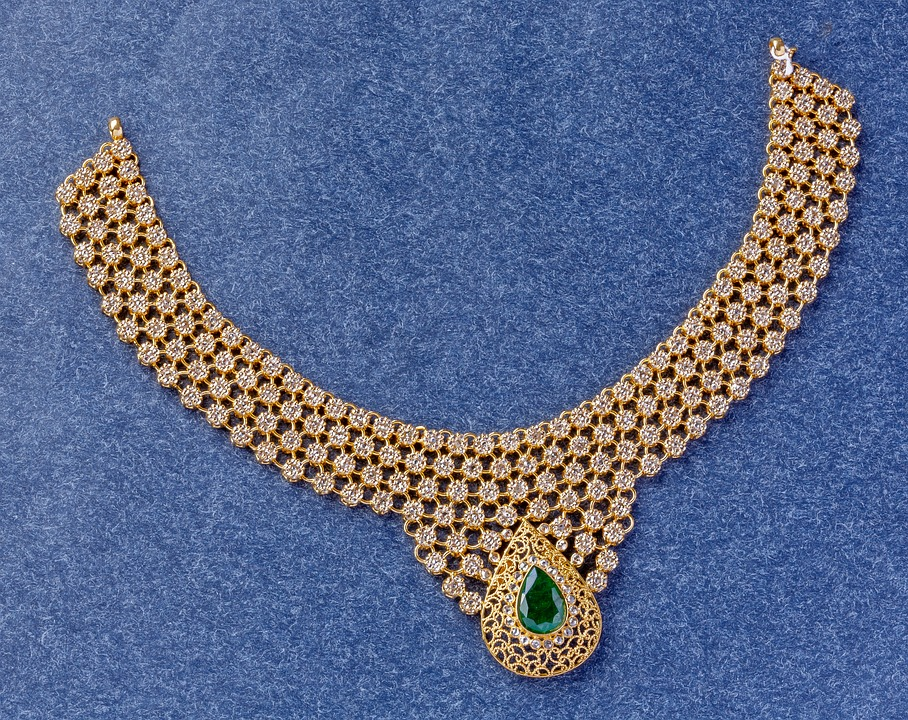 uncut necklace earrings latest diamond drop this buy gold in