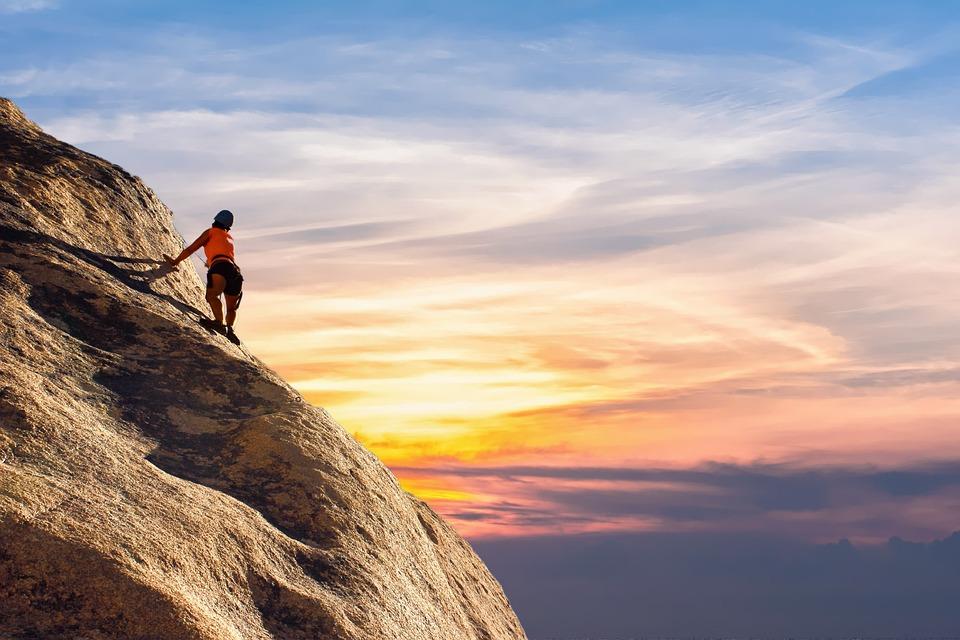 Bergsteiger, Himmel, Landschaft, Berg, Sport, Natur