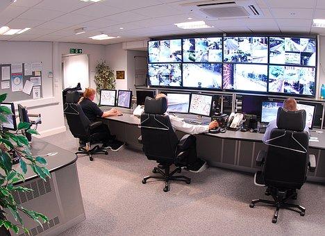 Lugar De Trabajo De La Cámara De Seguridad