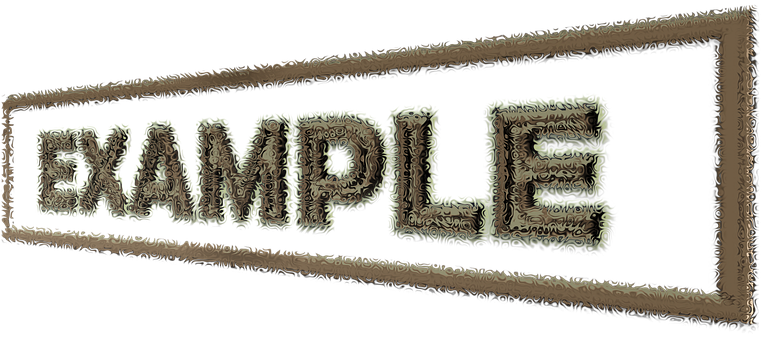 The word EXAMPLE written to signify examples of affiliate marketing compensations
