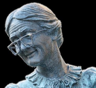 Grandmother, Elderly Woman, Statue